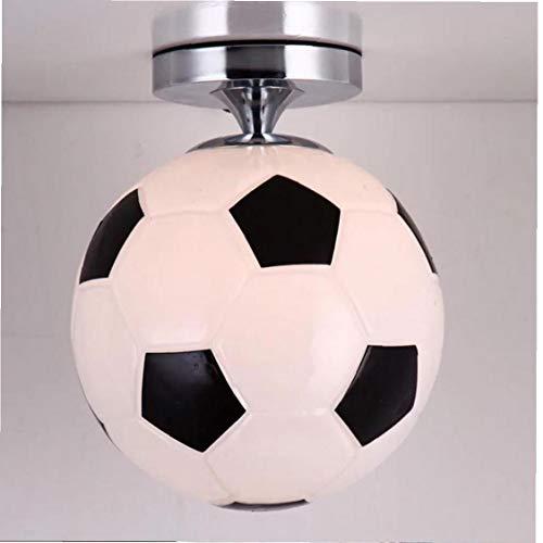 DierCosy Luz de Techo de Cristal Colgante de Pared de fútbol de iluminación montado en la lámpara Colgante de Fútbol Ideal para Bares, restaurantes Salón