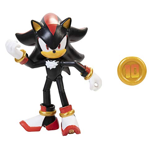Sonic The Hedgehog 4' Shadow Action Figure with Super Ring Accessory