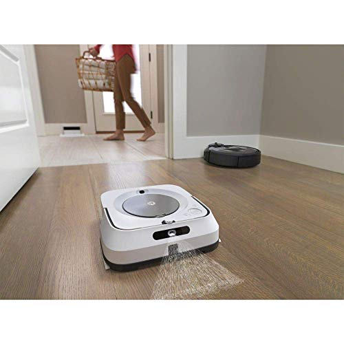 iRobot Braava m6 (m6134) Wischroboter mit WLAN, Präzisions-Sprühstrahl und erweiterter Navigation, Zeitplanreinigung, lernt und passt sich Ihrem Zuhause an, Nass- und Trockenwischen, App-Steuerung - 12