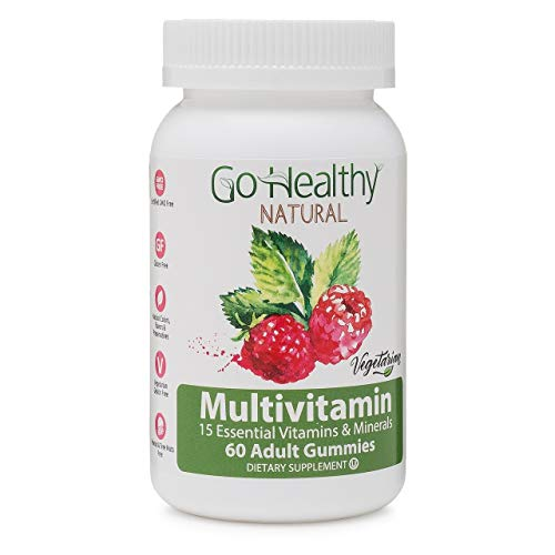 Go Healthy Natural Multivitamin Gummies for Women and Men, Vegetarian, Halal, OU Kosher (60 ct) 30 Servings Immune Support Vitamin C, D3 + Zinc