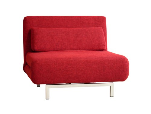 Hot Sale Baxton Studios Romano Convertible Sofa Chair Bed, Red