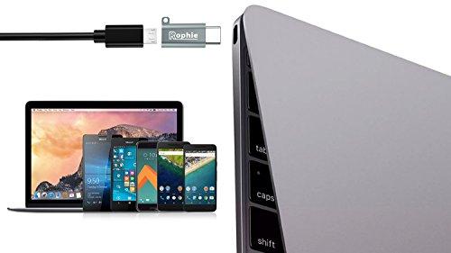 Adattatore USB C a Micro USB, Rophie [2 Pack] USB Type-C a Micro USB Adattatore per MacBook, ChromeBook Pixel, Nexus 5X, Nexus 6P, Nokia N1, OnePlus 2 e Altro