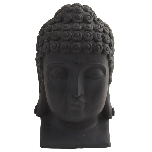 Nearly Natural 4983 Indoor/Outdoor Buddha Head, Black,11.5' x 12' x 18.5'