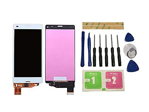 Flügel für Sony Xperia Z3 Compact Mini D5803 D5833 Display LCD Ersatzdisplay Weiß Touchscreen Digitizer Bildschirm Glas Assembly (ohne Rahmen) Ersatzteile & Werkzeuge & Kleber