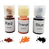 Candle Dye Highly Concentrated Assorted Bottle,0.2-Ounce,Red,Orange and Blue,3/pkg,Each Bottle can be Made 11...