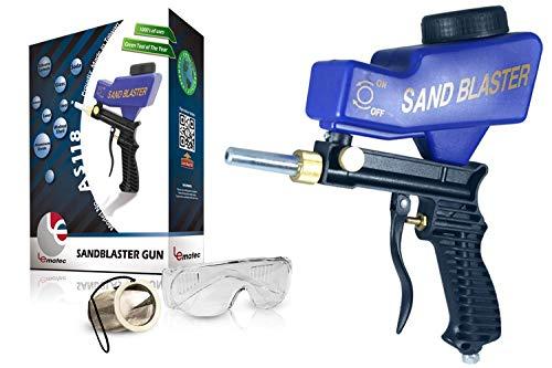 Sandblaster Sand Blaster Sanblaster Gun Kit, Soda Blaster, Professional Sand Blasters, Media Sandblaster Gun, Spot Blaster, Media Blaster Sandblast Gun, Walnut, Bead, Sand Blast Blasting Equipment.