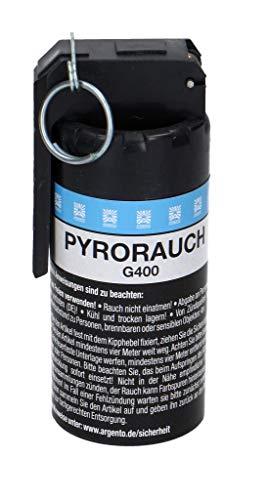 PYROWEB.DE Pyrorauch G400 mit Kipphebelzündung, weiß