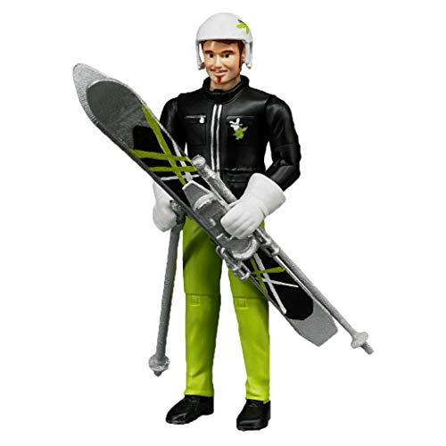 Bruder 60040 - Minifigur-bworld Skifahrer mit Zubehör