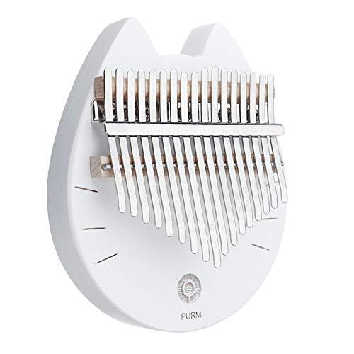 Pianoforte portatile pollice 17 tasti pollice pollice pianoforte trasparente cristallo acrilico dito Percussionprofessionisti (dimensioni: piccolo; colore: bianco)