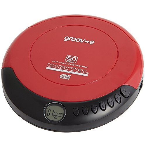 Groov-e GVPS110RD Retro Series Personal CD Player - Red [Importación inglesa]