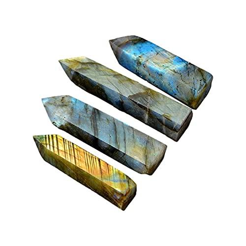YSJJDRT Cristal Natural Rugoso PC 1 Natural Elongate Lima Piedra de Luna Columna de Cristal Hexagonal Decoración de Piedra áspera Cristal Pilar Bar Salvación Piedra (Farbe : 5-6cm)