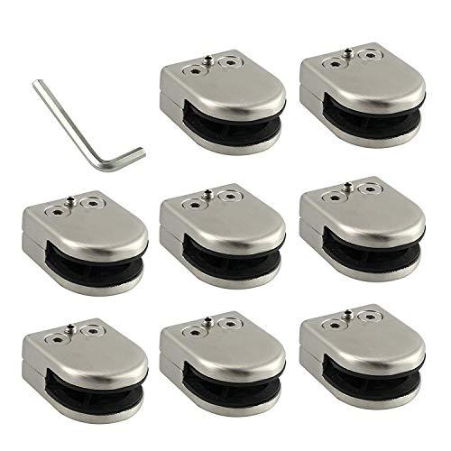 Neoteck Abrazadera de Cristal 8 piezas 6-8mm Acero Inoxidable 304 Abrazadera de...