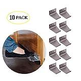 Hands Free Door Opener Sanitary Door Opener Pull Handle Silver Aluminum 10 Pieces (10PCS)