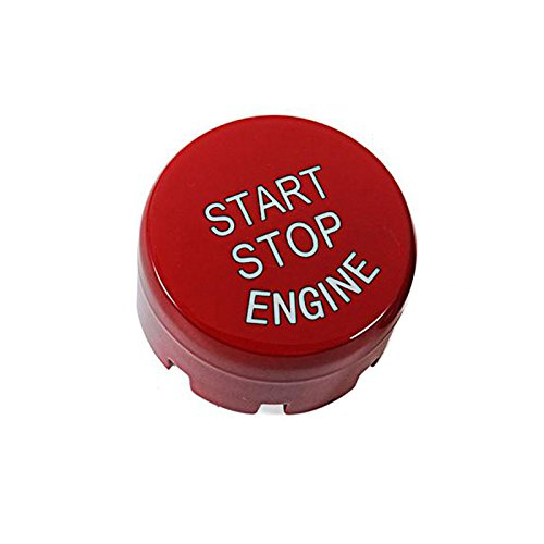 Thor-Inst Start Stop Button Push Button Ignition Switch for BMW F Series 1 2 3 4 5 6 7 Series X1 X3 X4 X5 X6 F20 F21 F30 F31 F10 F11 F01 F48 F25 F15 F16-Replacement button Cover Cap (Ferrari red)