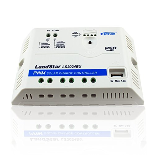 EPEVER PWM LS2024EU 20A 12/24V Regulador de Carga Controlador de Carga Solar con Conector USB