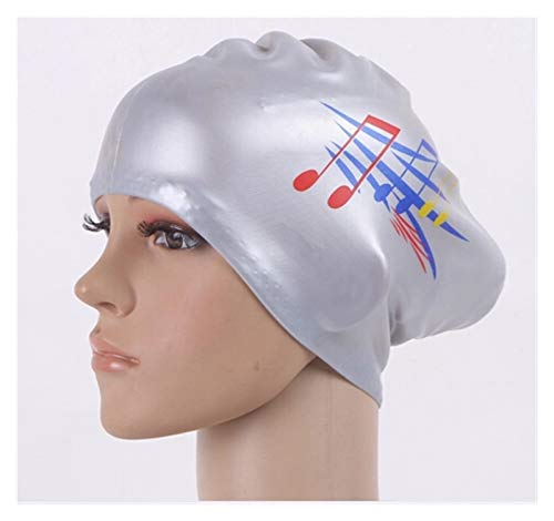 Cómodo Señoras nadando gorra de silicona de gran tamaño largo, niña, impermeable, grande, natación, natación, madre, equipo de buceo, protección contra el oído. para niñas niños adolescentes