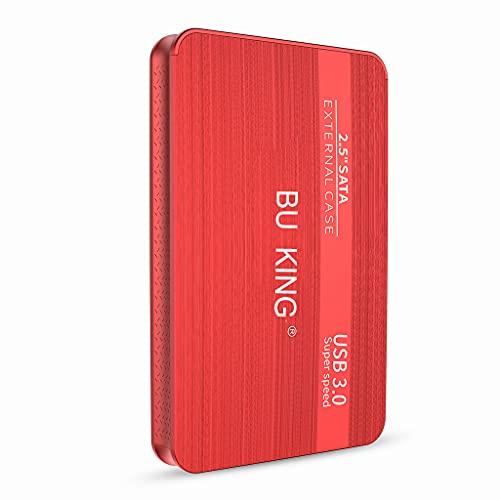 BU KING Mirco USB 3.0 Disco rigido esterno Disco rigido esterno da 500 GB Dispositivo di archiviazione USB PS4, TV Box Memoria flash desktop-Rosso