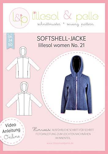 lillesol & pelle Schnittmuster lillesol Women No.21 Softshell-Jacke in Größe 34-50 zum Nähen mit Foto-Anleitung und Video