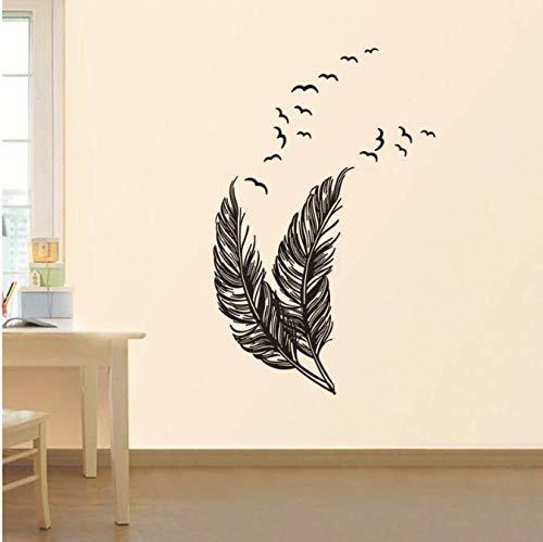 Muurstickers, Creatieve Veren Woonkamer Slaapkamer Vensterglas Decoratie Art Decals Kast Verwijderbaar Behang