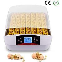 WISKEO Incubadoras de 56 Huevos Volteo Automaticas Perdiz con Humidificadora EconóMica Nacedora Perspectiva Led Control de Temperatura Incubación Hatcher Criadora Pollos Ganso Pato Gallina