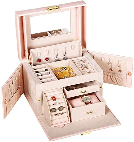 excellence FENGNV Jewelry Organizer Box 3-Layer DisplayJewelry Popular shop is the lowest price challenge