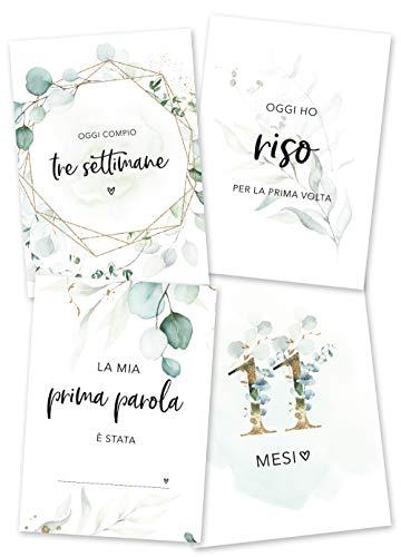 JoliCoon Milestone Baby Cards Italiano - gravidanza regalo mamma - scatola dei ricordi