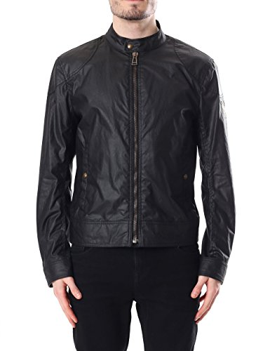 Belstaff Kelland Cafe Racer Wax Jacket Black-52
