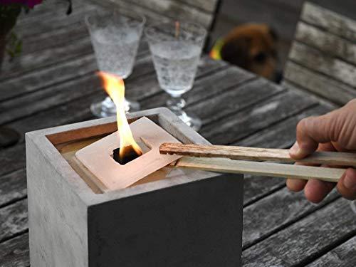 Nachfüllwachs für Betonfeuer der Beske-Manufaktur (30 Wachsplatten) | Praktische Wachsplatten zum Wiederbefüllen von Betonfeuern | für Betonfeuer der Maße: 13x13x13, rund breiter Rand, Ø14cm