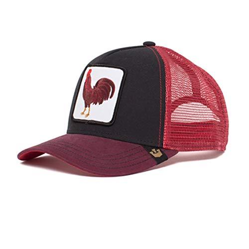 Goorin Bros Gorra de béisbol, color rojo burdeos, diseño de gallo rojo Talla única