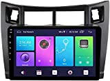 Android 10 pulgadas de navegación grande de pantalla, sistema de navegación GPS Host Adecuado para TOYOTA YARIS 2005-2011 Modificación, Estéreo Bluetooth, Radio Carplay incorporado,S3