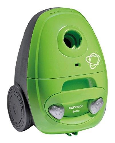 CONCEPT Hausgeräte VP8351 Bello Bodenstaubsauger mit Beutel, 700 W, antibakterieller HEPA-Filter 10, ECO-Bodendüse und Fügendüse, Plastik, 1.8 liters, Grün