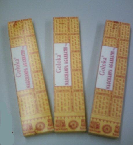 Räucherstäbchen Goloka Nag Champa, 3 Pack. á 16 g (10,21 Euro/100 g)