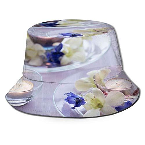 Sombrero de Sol con Cubo de pétalos de Placa para Hombres y...