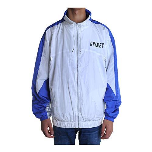 GRIMEY Planete Noire Silver Track Jacket Herren GTJ155 Wht Weiß, Blouson, Weiß S