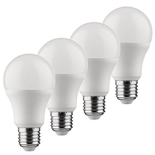 Müller-Licht 400241 _ A +, Lot de 4 Lot de 3 en 1 ampoule LED Forme Comfort Dim remplace 60 W, Plastique, 10 W, E27, Blanc, 6,5 x 6,5 x 11,8 cm
