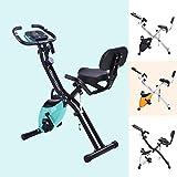 Vélo de fitness Merax - Avec entraînement et extenseur - 10 niveaux de résistance magnétique - Pliable - Pour...