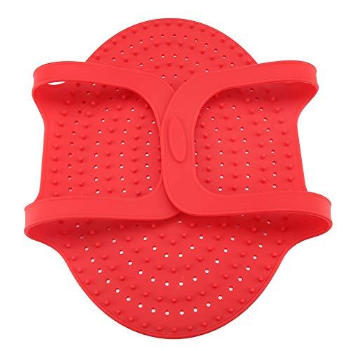 SANON Grillmatte Silikon-Antihaft-Grillmattenausrüstung für Holzkohle Elektrischer Grill Hitzebeständig Wiederverwendbar für Picknick-Grill im Freien