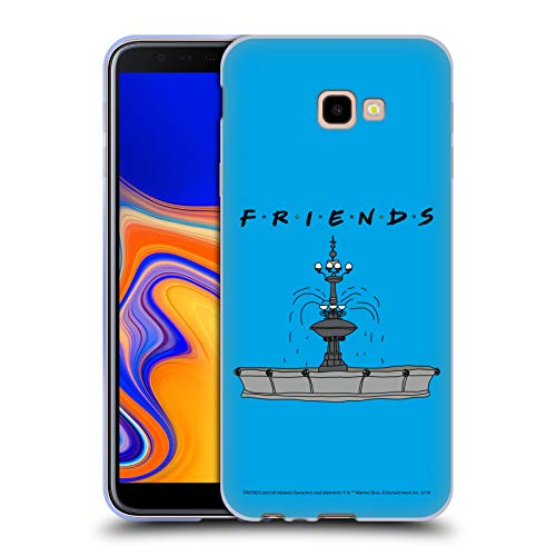 Head Case Designs Offizielle Friends TV Show Brunnen Ikonisch Soft Gel Huelle kompatibel mit Samsung Galaxy J4+ / Plus