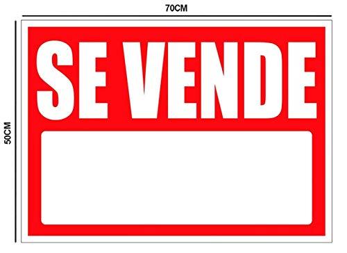 Oedim Cartel en Vinilo de Se Vende 50x70cm   Señaletica Adhesiva Duradera y Económica   Ideal para Vender Propiedades