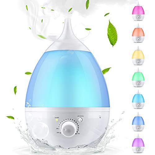 Skymore Difusor de Aceites Esenciales Difusor de Fragancia con 7 Luces de Colores Humidificador de Aire de Niebla Fría para Hogar, Yoga, Oficina, SPA