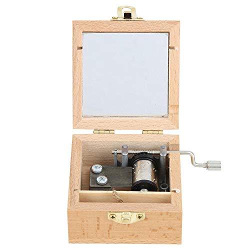Crank Music Box Slitstark träbox med hög noggrannhet, för hemmet(Planet)