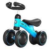Yavso Bicicleta sin Pedales para Niños 1-3 Año Bicicleta Equilibrio 1 Año Bebe Juguete Regalo de Cumpleaños Navidad Bici sin Pedales, 50 x 35.5 x 23cm