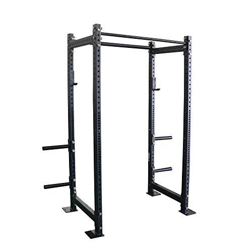 Titan Fitness T-3 4,400 LB Capacity Short Power Rack 24' Depth with Safety Bars and J Hooks Strength Training Equipment