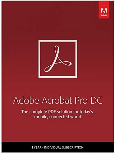 Amazon.com: Adobe Acrobat Pro DC | PDF Converter | 12-Month Subscription  with Auto-Renewal, Billed Monthly, PC/Mac: Software