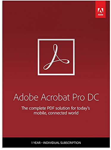 Adobe Acrobat Pro DC | PDF Converter | 12-Month Subscription with Auto-Renewal, Billed Monthly, PC/Mac