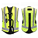 Chaleco Protector De Airbag Chaleco De Moto Con Airbag Gran Cinta Reflectante En La Parte Posterior Del Pecho. Adecuado Para Hombres Y Mujeres Adultos. Ciclismo, Equitación, Deportes Al Aire Libre