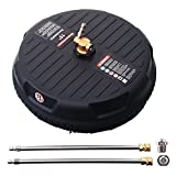 M MINGLE 15 Inch Pressure Washer Surface Cleaner, with 2 Extension...