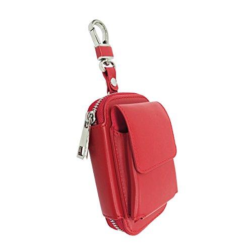glo グロー ケース 高級PU使用 おしゃれなポーチ型 グロー専用ケース 本体 ネオスティック クリーニングブラシ収納 便利なカラビナ付き メンズ レディース兼用 ユニセックス 02 レッド gl-case03-red