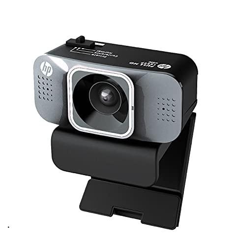 ヒューレットパッカード (hp) ウェブカメラ webcam w500 フルHD 200万画素 生活音off 新ノイズキャンセリング機能付き USB-Aケーブル1.5m付き リモートあるある解消 内蔵マイク 1年間メーカー保証