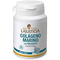 Ana Maria Lajusticia - Colágeno marino con magnesio – 180 comp (sabor limón). Articulaciones fuertes y piel tersa. Regenerador de tejidos con colageno hidrolizado tipo 1 y 2. Envase para 30 días.